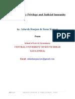 Parliamentary Previlege and Judicial Immunity