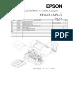 stylus C42+ parts list and diagram