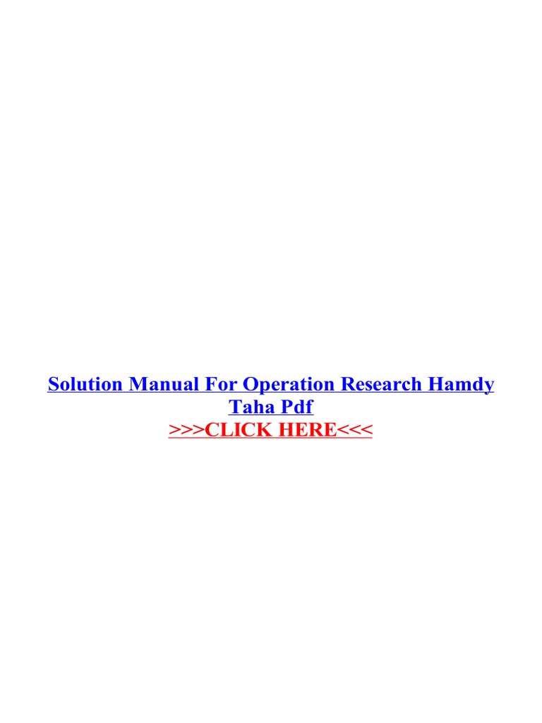 Solution manual for operation research hamdy taha pdf portable solution manual for operation research hamdy taha pdf portable document format areas of computer science fandeluxe Image collections