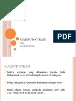 MAKSUD SURAH