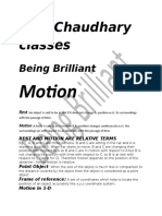 Motion Notes Class 9 Cbse