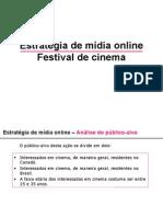 Estratégia de mídia online festival de cinema