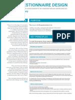 Acaps Questionnaire Design Summary July 2016