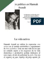 Espacio Publico en Arendt