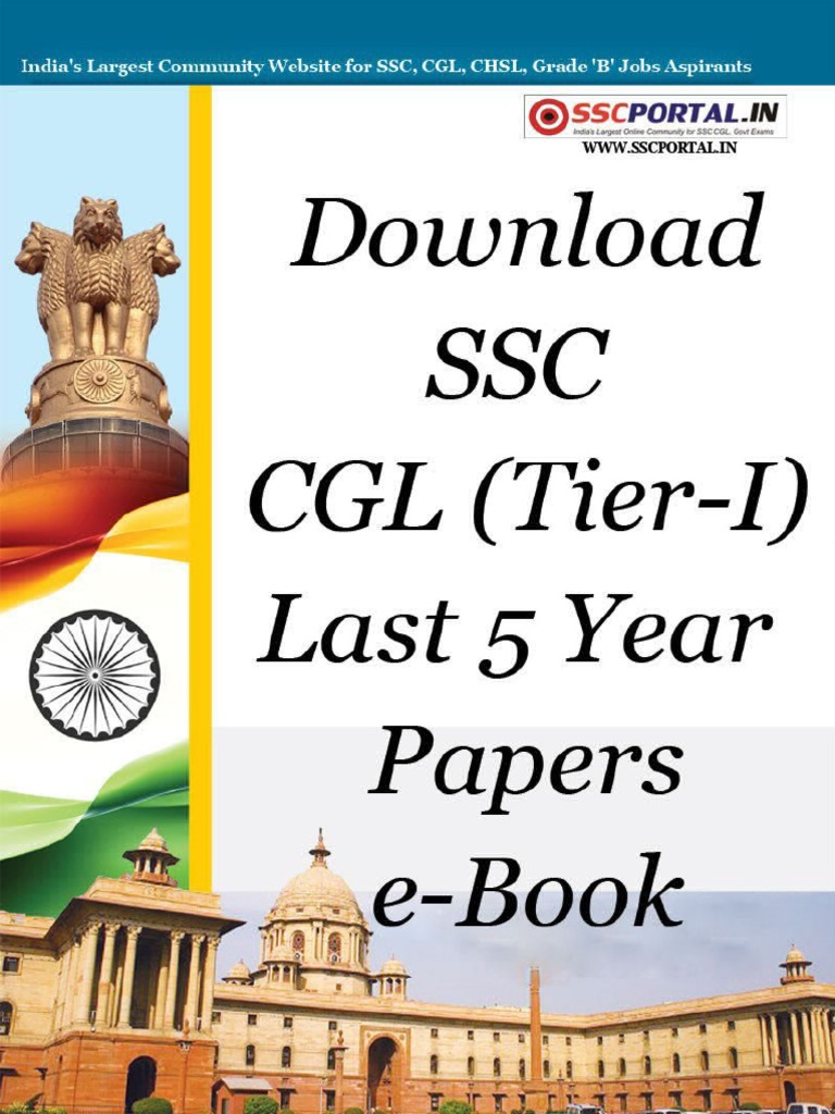 Download ssc cgl tier i last 5 year papers e booksscportalpdf fandeluxe Images