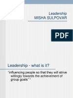 Misha Sulpovar- Important Facts That You Should Know About Leadership.