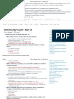 CCNA Security Chapter 1 Exam v2 - CCNA Exam 2016