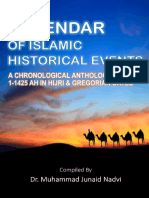 Calendar of Islamic Historical Events