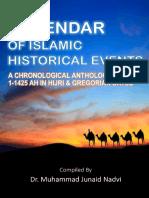 Calendar of Islamic Historical Events