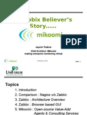 Zabbix ppt | Web Server | Graphical User Interfaces