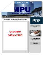 Cad Questoes - Cargo 21 Tecnico Administrativo - Gab Comentado