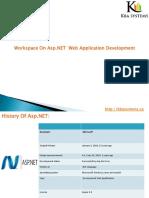 Workspace on ASP.net Web Aplication Development