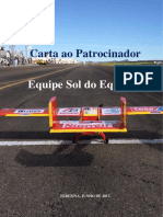 Prosposta de Patrocinio - SOL DO EQUADOR