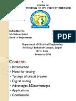 Digital Testing of Hv Ckt