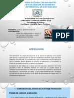 Composicion Del Estado de Costo de Prouccion, Clasificacion y Objetivos, V