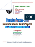 Bsn Promotion Test Mock Test Papers 2015