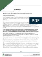 Resolución 281-E. Ministerio de Energía y Minería.
