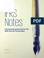 IFRS Notes - Framework Proposed by the MAT-Ind as Committee
