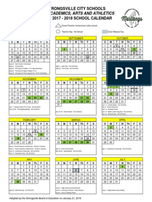 Svusd Calendar.Final 2017 2018 Academic Calendar Holidays Observances