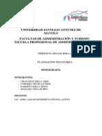 G 6 Monografia de La Planificacion Financiera