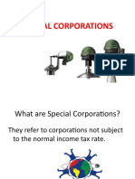 Special Corporations