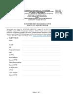 Kuesioner BPK Untuk Kepala UPTD 2017-2