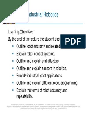 Lecture 14b - Industrial Robotics - Ch 8 pdf | Robot