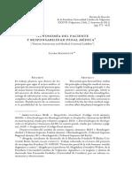 Autonomía del paciente y responsabilidad penal médica - Laura Mayer.pdf