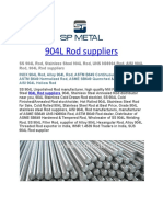 904L Rod Suppliers