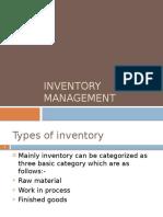 Inventory Management - BBA finance