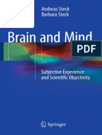 Brain and Mind - Subjective Experience and Scientific Objectivity, Andreas Steck, Barbara Steck Springer, 2016