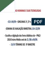 Agenda Ciências Humanas e Suas Tecnologias