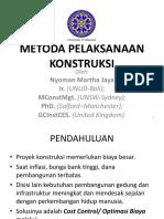 17. Metoda Konstruksi, Jaya 2014