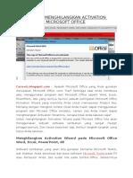 Cara Mudah Menghilangkan Activation Wizard Pada Microsoft Office