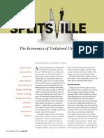 Economics of Unilateral Divorce ST Louis Fed 2008