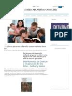 15 Livros Para Toda Família Conservadora Deve Ler - Conservadorismo Do Brasil