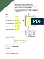 Mathcad - Calculo Estructural Pasarela