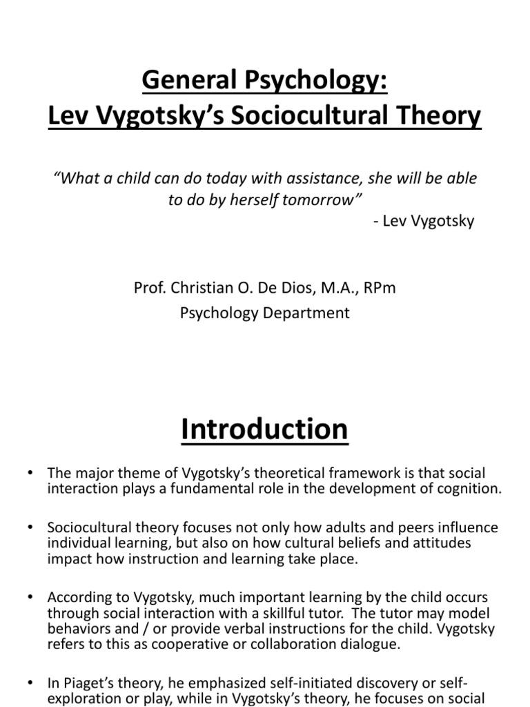 sociocultural theory psychology