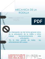 Biomecanica de Rodilla