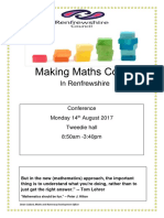 making maths count in renfrewshire conference programme