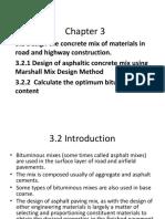Chapter 3 Marshall Specimen