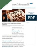 4 Livros Para Você Entender o Fenômeno FakeNews - Conservadorismo Do Brasil