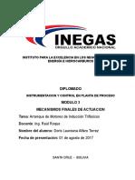 Motores con induccion a trifasico Tarea Semana 1º Doris Alfaro Torrez
