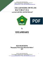 Rangkuman UN Matematika SMP 2016