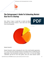 The Entrepreneur's Guide to Estimating Market Size for It's Startup