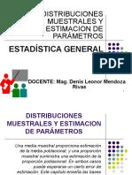 Distribuciones Muestrales y Estimación de Parámetros