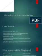 Managing Bull Whip – SCM Case Study