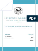 PSM Project Report - Analysis of CSR Spending by Indian Companies