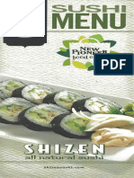 Sushi Menu at New Pioneer Coop - Iowa City - Coralville