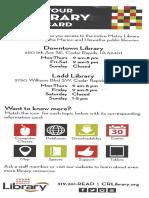 Brochure to Public Libraries of Cedar Rapids Iowa
